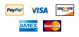 We accept PayPal, Visa, Mastercard, Discover, and Amex.