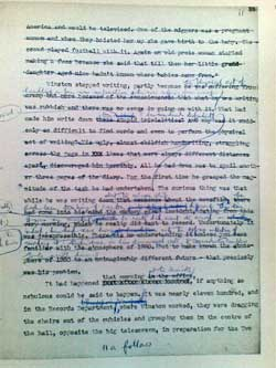 Nineteen Eighty-Four manuscript page