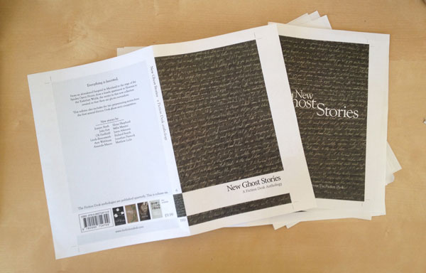 Cover proofs for New Ghost Stories